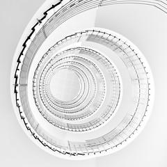 -..on the lighter side - (Jacqueline ter Haar) Tags: hilton reykjavik stairs spiral lookingup lighter highkey hiltonnordica