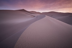 Surnise on the Dunes (Jeremy Duguid) Tags: great sand dunes national park sunrise morning dawn travel nature landscape flickr lines curves dune clouds colorado co southwest southwestern hiking outdoors outdoor photography sony jeremy duguid
