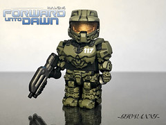 Brick affliction Master Chief (~GIOVANNI~) Tags: brick affliction master chief custom lego forward unto dawn mini figure halo