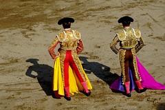 shadows (aficion2012) Tags: ceret 2018 toros bull bullfight corrida sao torcato francia france frança catalogne catalunya taureaux taureau tauromachie tauromaquia torero capote capa capeando capear shadows