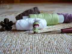 127-Magnolia 15mm (tinyteensdolls) Tags: botanicalsecrets miniature microart crochet amigurumi microcrochet threadcrochet miniamigurumi tinyart magnolia amigurumidoll artdoll craft crochetmini crochettoy crochetminiature crochetdoll mini micro minicrochet toy tinyamigurumi tiny flower plant handmade
