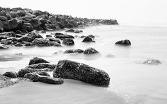 An Allegory of Time (John Westrock) Tags: longexposure monochrome blackandwhite rocks ocean pacificnorthwest pacificocean washingtonstate canoneos5dmarkiii canonef2470mmf28lusm bwnd1000x beach water