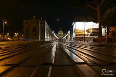 towards San Pietro (Tiziano Photography) Tags: rome sanpietro moon night light nikond750 d750 nikon landascape roma luna notturno luci paesaggio