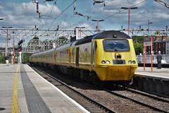 43062 (Lewis_Hurley) Tags: 1q24 testtrain johnarmitt westcoastmainline wcml maintenance diesel england uk staffordshire train railway station stafford flyingbanana yellow networkrail newmeasurementtrain nmt highspeedtrain hst 43062 43 class43