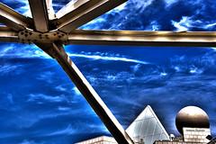 Equilibrio (stefano.chiarato) Tags: equilibrio tempo cielo sky nuvole clouds sfera geometria azzurro barcelona espana architettura architecture pentax pentaxk70 pentaxlife