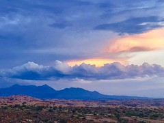 The LaSal Mountains at Sunset (JMFusco) Tags: archesnationalpark clouds weather landscape iphone utah lasalmountains