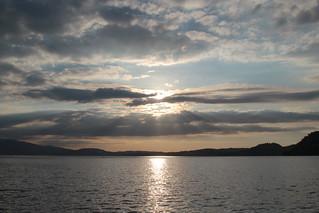 Sonnenuntergang - Sunset auf dem Vierwaldstättersee ( Lac des Quatre-Cantons - Lago dei Quattro Cantoni ) in der Innerschweiz - Zentralschweiz der Schweiz