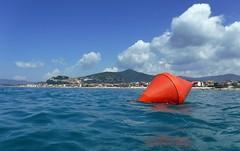 Colors of Maremma (Jambo Jambo) Tags: boa buoy mare sea seascape spiaggia beach paese village castiglionedellapescaia grosseto maremma maremmatoscana toscana tuscany italia italy panorama landscape fujifilmfinepixxp120 jambojambo