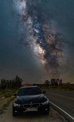 Drive to the stars (Geoffrey Hunt Photography) Tags: bmw astrophotography stars milky way desert night shots landscape travel california mojave long exposure panorama