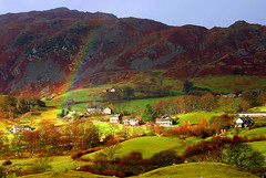 HOPE (Wildlife & Nature Photography) Tags: lakedistrict cumbria england landscape rainbow countryside houses nature outdoors mountains hills scenic tranquility calm hiking sheep farmhouses winter outandabout lakeland village hamlet canon 300d canon300d canoneos300d thegreatoutdoors