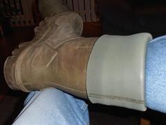 DUNLOP Thermo 44  do gr  afg  019 (stevelman14) Tags: dunlop thermo groengroen laarzen omgeslagenranden gebruikt gedragen smerig dirty stoer sturdy indoor