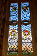 Windows of the Great Hall (TheOtter) Tags: stirlingcastle stainedglass scotland stirling castle stone window