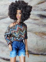 Boho Days – the sweater and jeans shorts (Levitation_inc.) Tags: ooak doll dolls clothes handmade fashion fashions royalty nuface integrity toys levitationfashion etsy barbie barbiestyle poppy parker summer boho 2018