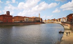 Afternoon in Pisa (matteoleoni1) Tags: pisa summer afternoon italy travel cityscape tourism river water sun sunshine sunny people ponte sole estate viaggio shot bestview nature