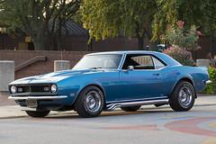 1968 Camaro (DJ Wolfman) Tags: camaro v8 hot hotrods classic chevrolet chevy blue summer sidepipes baycity michiganfavorites michigan 1968