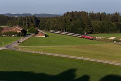 Günzach (Nils Wieske) Tags: bayern günzacher steige allgäu allgäubahn ec eurocity db bahn eisenbahn zug züge train railway railroad bavaria baureihe 218 v160