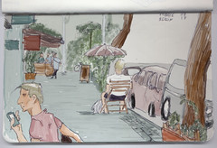 Pannier Strasse (Unai_Guerra) Tags: sketch sketchcrawl dibujo berlin pannier strasse boceto paisaje urbano acuarela watercolor
