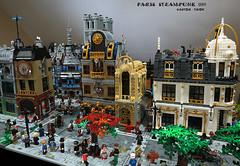 Paris steampunk 1889 v2 (CASTOR-TROY) Tags: paris steampunk 1889 lego modular building castor castortroy minifig