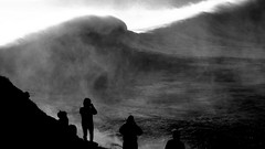 Nazare Portugal (walterpeitz) Tags: nazare bw waves portugal monsterwaves