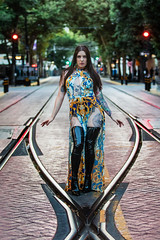 Meow in Midtown (micadew) Tags: micadew interesting interestingmicadew interestingfaces tattooedgirl tattoos tattooedlady lesbian pride sexy gorgeous beautiful beautifulbrunette beautyshoots sexytattoos longhair photography photoshoot photoshop sacramento downtownsac light lightsanddarks midtown boots tallboots latex gucci train tracks