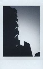 Black Apartments - 2017 (Tbo-art) Tags: black city architecture building sky dark urban blackwhite silhouette analog film house instant instax contrast apartments balcony monochrome roidweek polaroidweek fujifilm istillshootfilm believeinfilm filmisnotdead roidweek2017 autumnpolaroidweek2017 fujifilminstaxminimonochrome gradient apeldoorn gelderland netherlands