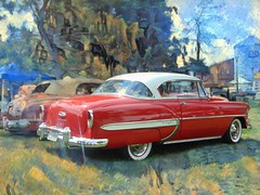Bel Air (novice09) Tags: backtothefifties carshow chevrolet 1954 belair hardtop whitewalls dreamscope ipiccy