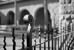 Wrought iron (Tpstearns) Tags: fuji gw690ii film 120 fp4 ilford 6x9 mediumformat monochrome blackandwhite bw