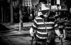 (Mister G.C.) Tags: blackandwhite bw image streetshot streetphotography photograph candid people man male guy elderly old strawhat stipes sunshine summer walkingsticks light shadow unposed monochrome urban town city sonya6000 sonyalpha a6000 mirrorless telephoto zoom lens sel18105 18105mm sonyglens sony18105mmepz f4 mistergc schwarzweiss strassenfotografie niedersachsen lowersaxony deutschland europe