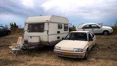 Almost set up and ready for 99,5 Years of Citroën... (Skylark92) Tags: nederland netherlands holland 100 jaar citroen 1987 rk55nv k6 gti 0274wp 1980 k370 campine kip kenteken nederlands origineel 1989 xr10rd cremant blanc u9 tri 19 bx citroën road car building tree windshield window eiland van maurik gelderland