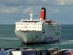 18 08 10 Stena Europe arriving Rosslare (22) (pghcork) Tags: stenaline ferry ferries carferry stenaeurope ireland wexford rosslare ships shipping