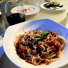 Makin' #Bolognese w/ fresh #Tomatoes Fresh #basil from the #garden too!  #homemade #Food #CucinaDelloZio - (grapegraphics) Tags: tomatoes bolognese basil garden homemade food cucinadellozio