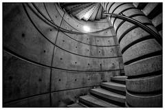 Arriving Somewhere (ianrwmccracken) Tags: shadow edinburgh nikon building d7100 bw museum nms spiral mono samyang concrete architecture steps texture scotland