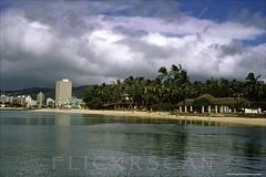 Queen's Surf Publics Waikiki 1965 (Kamaaina56) Tags: 1960s waikiki hawaii beach offshore slide queenssurf