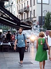 People in Milano (marionvankempen) Tags: milano city people evening throughherlens