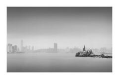 Lei Yue Mun Coast Light House (Chris YK Wong) Tags: 4x5 45 大片幅 大底 底片 長曝 香港 菲林 黑白 膠片 bw beach blackandwithe chamonix ddx delta100 film hongkong ilford landscap landscape longexpose longexposure ndfilter negative powerstation schneider sea water