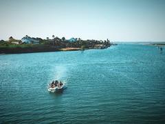 Boat leaving Laguna Madre #jcutrer (joncutrer) Tags: padreisland jcutrer royaltyfree creativecommons driving boating gulfofmexico mustangisland texas corpuschristi lagunamadre lagoon saltwater ocean boat