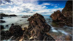 Time Test (Augmented Reality Images (Getty Contributor)) Tags: nisifilters benro bluesky canon clouds coastline findochty landscape longexposure morayfirth rocks scotland seascape water waves