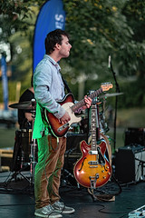 C58R2745 (Nick Kozub) Tags: justin saladino band laval zones musicals festival concert gig live music spectacle fender gibson guitar ruckus fun photography canon day festive supro amp heat bassface evening 1d x 85 f12 ii l