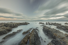 Centre stage (zebedee1971) Tags: kapiti island new zealand coastal coast water sea beach waves ocean rocks rocky north clouds long exposure tasman landscape