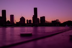 Brisbane City (Lisa M / /) Tags: brisbane brisbanecity birssie australia queensland dusk city skyline sunset water river bridge storeybridge skyscaper tower building new farm sky nikon nikond5100 nikonaustralia nikondslr