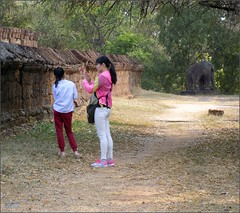 Angkor, Eastern Mebon Walls 20180203_102648 DSCN2615 (CanadaGood) Tags: asia seasia asean cambodia siemreap angkor eastmebon temple people person building wall tree architecture archaeology canadagood 2018 thisdecade color colour hindu khmer