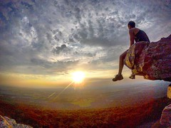 Black Rock Cliff, Maryland (csthomasXSi) Tags: travel summer valley selfphotography gopro climb adventure maryland blackrock cliff sunset overlook mountain peak rock hike hiking