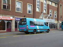 Arriva Midlands 1008 BF67 WGC on Rail Replacement (Rear), Midland Rd, Derby (sambuses) Tags: arrivamidlands 1008 bf67wgc railreplacement