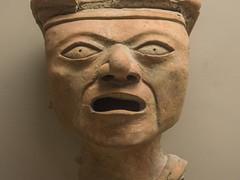 Sacrifice mask, Isla de Sacrificios, 900-1500 AD (Emma Nibaru) Tags: nikon nikond7200 london britishmuseum archeology mask terracotta ancient turquoise cultures