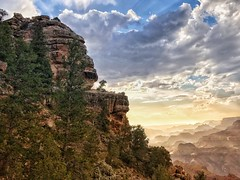 And then you find it. Away from the throngs. Off the trodden path. The perfect slice of celestial. (Nate Loper - #ArizonaGuide) Tags: nationalpark grandcanyonnationalpark arizonaguide heaven douglasfir trees clouds sky arizona desert landscape geology travel hiking sunset grandcanyon