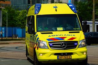 Dutch Ambulance underway to an hostpital in Amsterdam