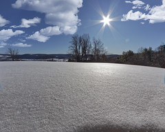 Back Yard in Jan (Largeguy1) Tags: back yard jan landscape blue sky snow clouds canon 5d mark ii