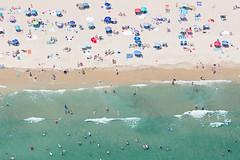 Over Weekapaug Beach (katie47n) Tags: aerial helicopter westerly rhodeisland ri summer beaches sunbathers sunbathing umbrellas sand surf waves ocean