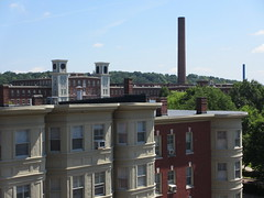 Bridge Street and view to Boott Cotton Mills from parking garage, Lowell, Massachusetts (Paul McClure DC) Tags: lowell massachusetts july2013 middlesexcounty newengland historic architecture lowellnationalhistoricalpark