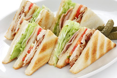 club sandwich , clubhouse Sandwich (Geonmin) Tags: american assorted background bacon bread breakfast brown chicken classic closeup club clubhouse cooking cuisine decker dinner dish double doubledecker food ham house layered lettuce lunch mayonnaise meal mustard nutritious pickles plate sandwich side slice snack toast toasted tomato turkey vegetable white